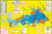Fishing Map (With GPS) - Hook-N-Line F-122 Lake Somerville