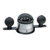 Ritchie B-200P Navigator Steel Boat Compass - Binnacle Mount - Stainless Steel/Black