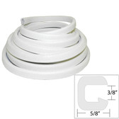 "TACO Flexible Vinyl Trim - "" Opening x ""W x 25'L - White"