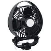 "Caframo Maestro 12V 3-Speed 6"" Marine Fan w/LED Light - Black"