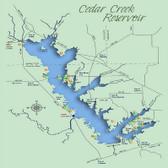 Fishing Hotspots - Hook-N-Line F-125 Cedar Creek Lake