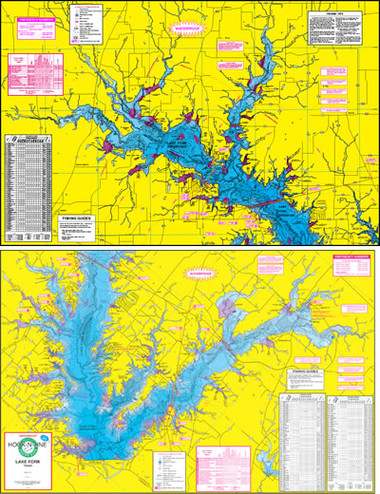 Fishing Map With GPS HookNLine F113 Toledo Bend Angler Products