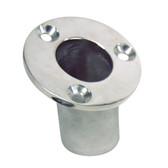 "Whitecap Flush Mount Flag Pole Socket - Stainless Steel - 1-1\/4"" ID"
