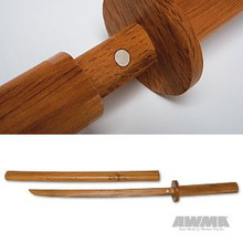 AWMA® Hardwood Bokken with Wooden Scabbard - Youth