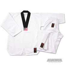 AWMA® ProForce® Gladiator 7oz. TKD Uniform - Black V-Neck