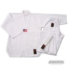 AWMA® ProForce® Gladiator 7oz. TKD Uniform - White V-Neck