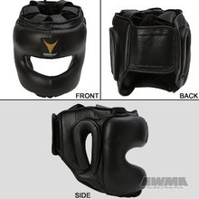 AWMA® ProForce® Thunder™ Leather MMA Head Guard - Black