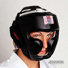 AWMA® ProForce® Full Headguard, Headgear (Black leather)