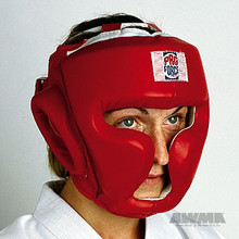 AWMA® ProForce® Full Headguard, Headgear (Red Vinyl)