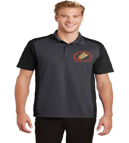 Men's dri-fit color block polo w/ embroidery