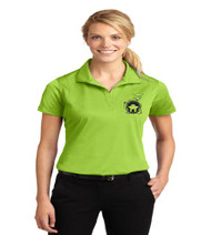 Dillard Street ladies dri-fit polo w/ left chest print