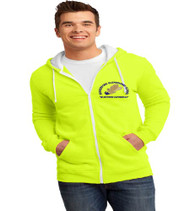 Hungerford men's zip-up hooded sweatshirt w/ embroidery