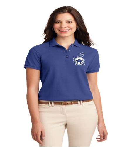Dillard Street basic ladies polo w/ embroidery