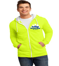 Sunridge elementary men's zip-up hooded sweatshirt w/ embroidery