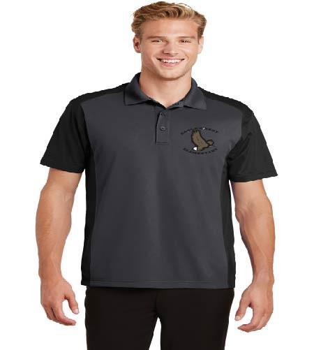 Eagle's Nest men's dri-fit color block polo w/ embroidery