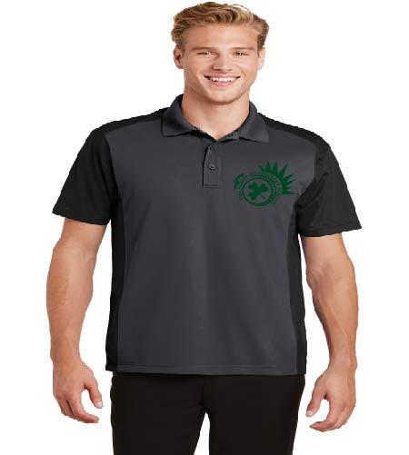Killarney men's color block dri-fit polo w/ printed logo