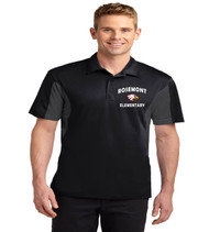 Rosemont men's color block dri fit polo