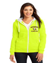 Rosemont ladies zip up hoodie