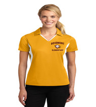Rosemont ladies color block dri fit polo
