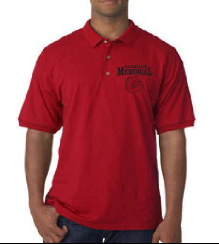 Memorial Uni-sex uniform polo w/ printed logo