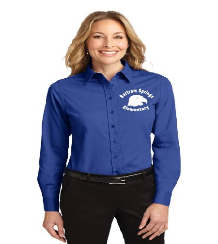 Bartram Springs ladies long sleeve button-up polo