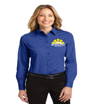 SunRidge Elementary ladies long sleeve button-up shirt w/ embroidery