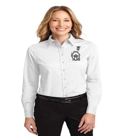 Dillard Street ladies long sleeve button up