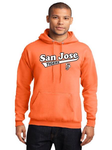 San Jose Tigers neon orange adult hoodie