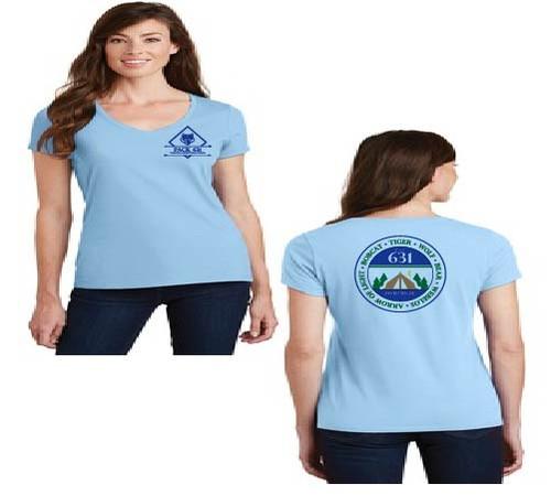Pack 631 Ladies vneck t-shirt