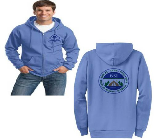 Pack 631 full zip hoodie adult