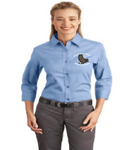 Eagle's Nest ladies 3/4 sleeve button-up shirt w/ embroidery