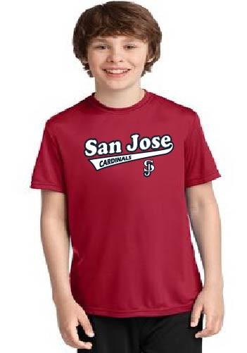 San jose Cardinals youth dri-fit shirts
