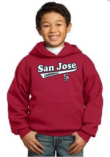 San Jose Cardinals youth hoodie