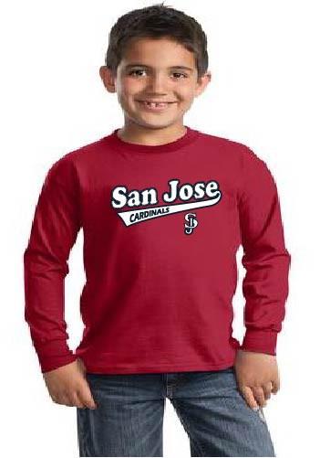 San Jose Cardinals youth longsleeve tshirt