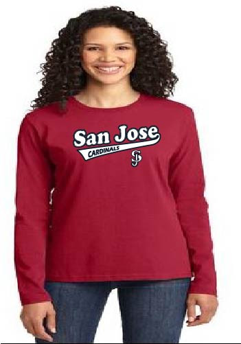 San Jose Cardinals ladies longsleeve t-shirt