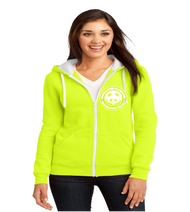 Single Creek ladies zip-up hooded sweatshirt