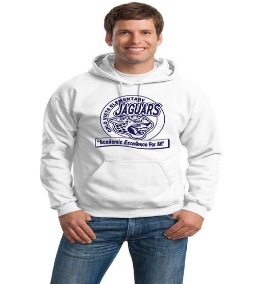 Orlo Vista white adult hoodie