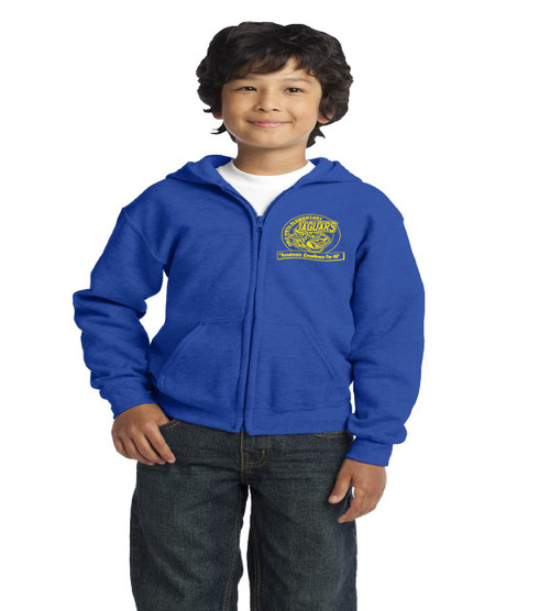 Orlo Vista youth royal blue zipup hoodie