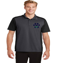 Eagle Creek men's color block dri fit polo