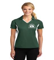 Forest City ladies color block dri fit polo