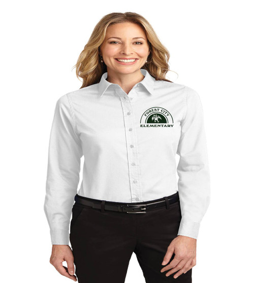 Forest City ladies long sleeve button up