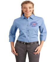 Sadler ladies 3/4 sleeve button up