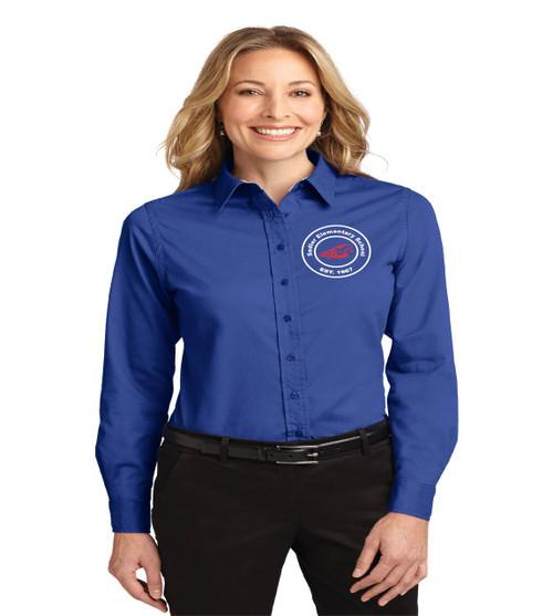 Sadler ladies long sleeve button up