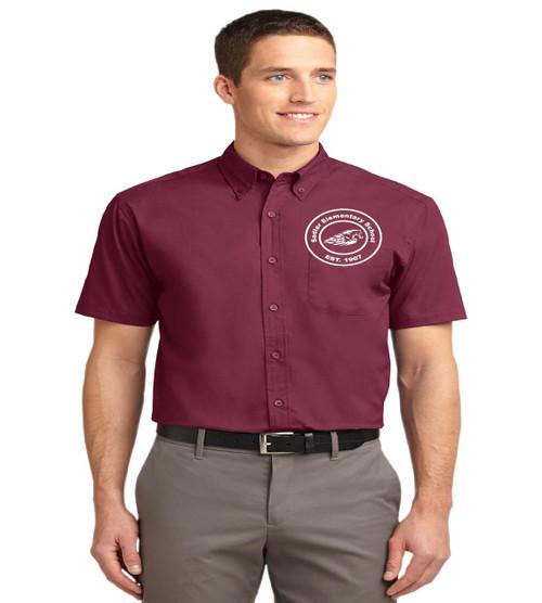 Sadler men's short sleeve button up