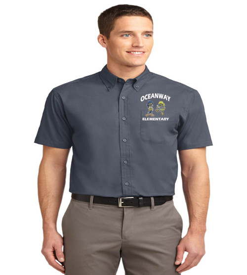 Oceanway men's short sleeve button up