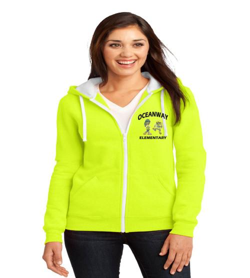 Oceanway ladies zip-up hooded sweatshirt
