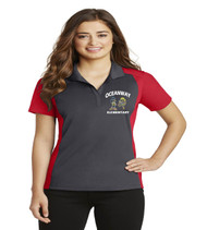 Oceanway ladies color block dri fit polo