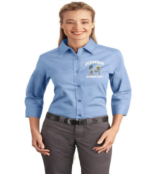 Oceanway ladies 3/4 sleeve button up
