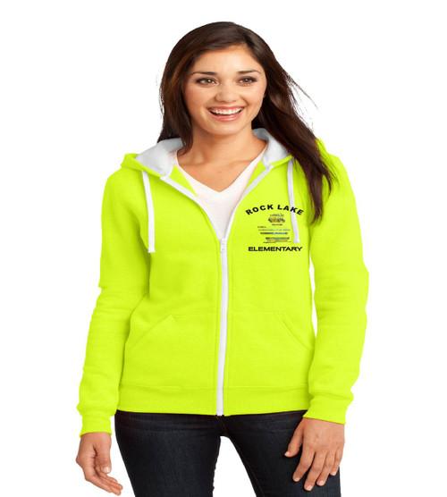 Rock Lake ladies zip up hooded sweatshirt