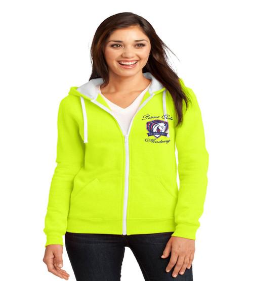 Patriot Oaks ladies zip up hoodie